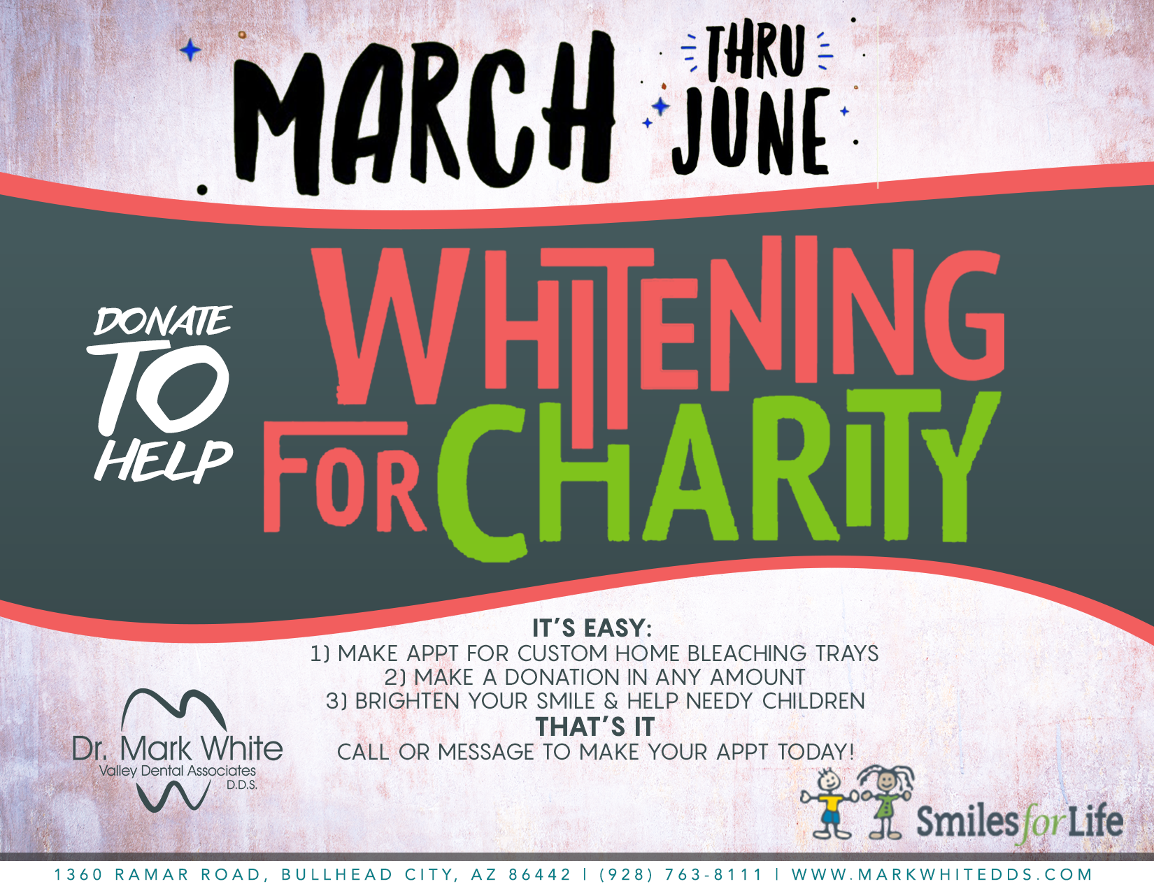 Valley Dental Associates Whitening Charity Campaign