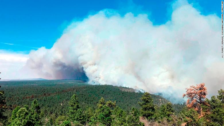 Tinder Fire Grows In Northern Arizona; State Of Emergency Issued