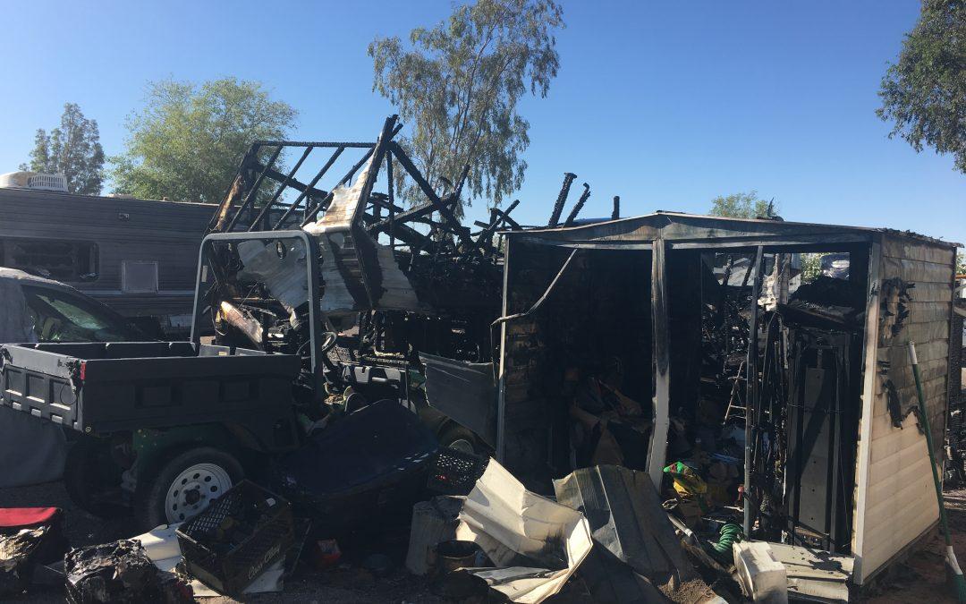 Monday Night Fire Destroys Multiple RV's