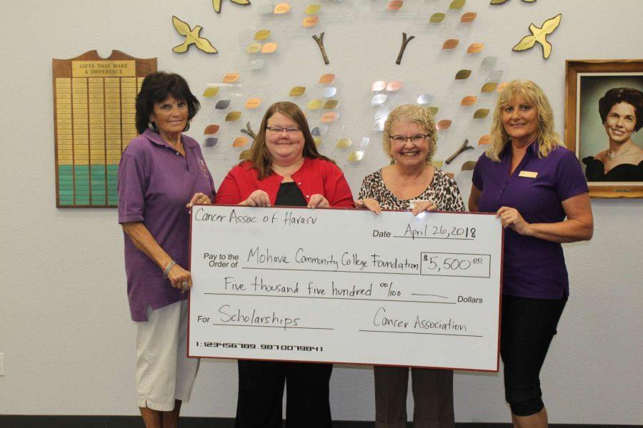 Cancer Association of Havasu Donates $10K For MCC Scholarships