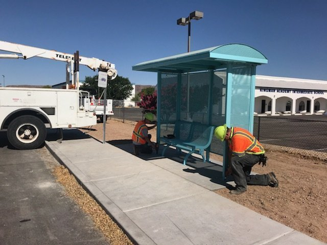 KART Bus Stops Providing Shade For Riders