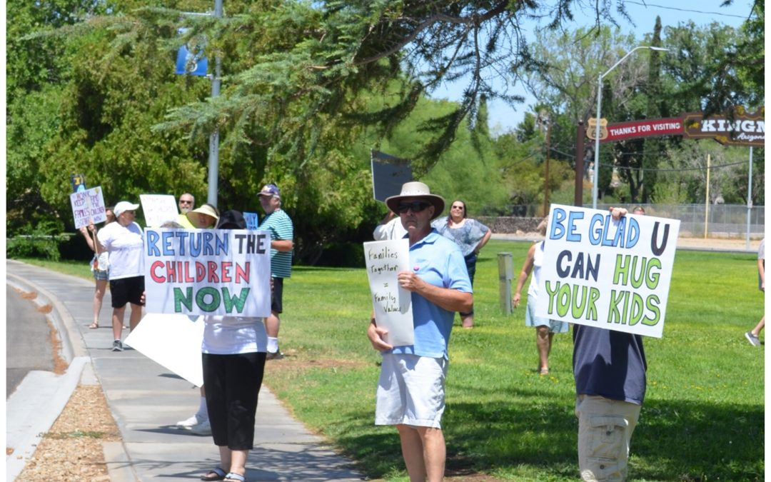 """Activists Rally In Kingman For Nationwide """"Families Belong Together"""""""