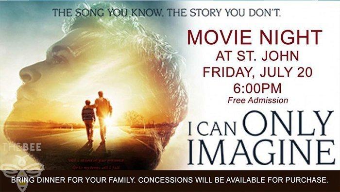 St. John's To Host Movie Night July 20