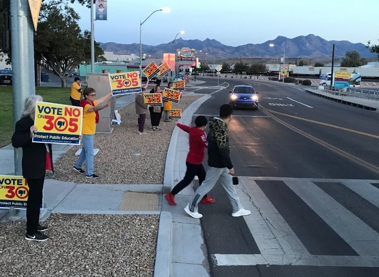 #RedForEd and Prop 305 Opponents Out for One Last Push