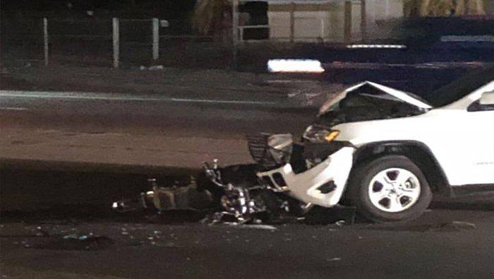 Fort Mohave Crash Leaves Motorcyclist Injured