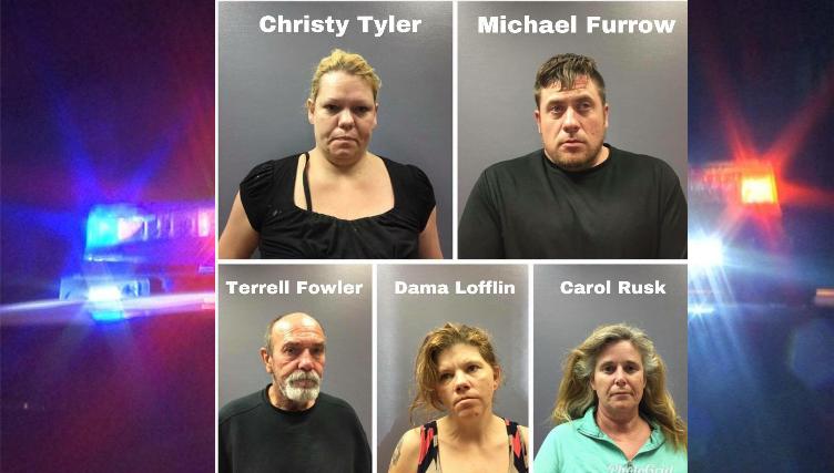 Search Warrant Nets Five In Suspected Meth Sales