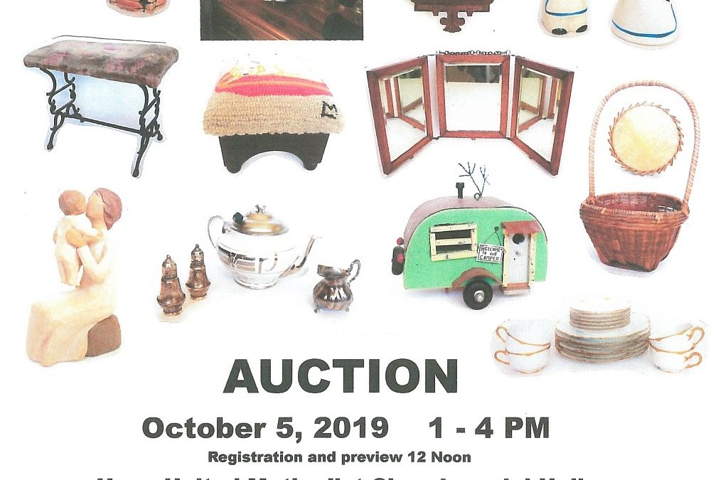 Auction happening at Hope United Methodist Church, 10/5 – BHC