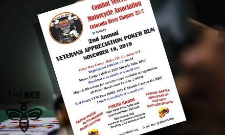 Colorado River Combat Veterans Motorcycle Association  Hosting 2nd Annual Poker Run