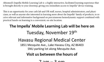 The Impella truck is coming to HRMC 11/19!