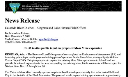 BLM invites public input on proposed Moss Mine expansion
