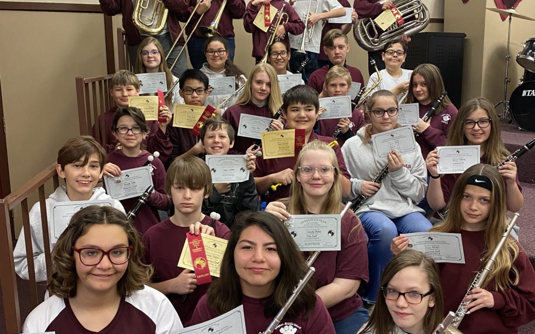 Kingman Middle School Band Students Receive Top Honor