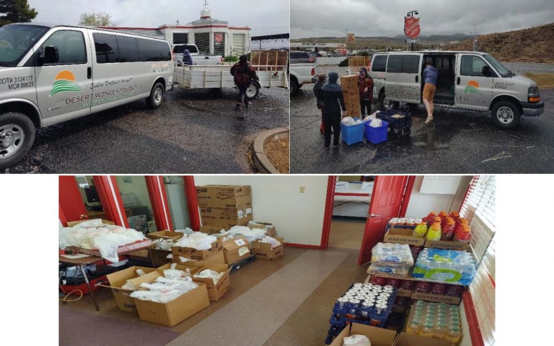 Ghost Town in Northwest Arizona Residents Get Food Relief