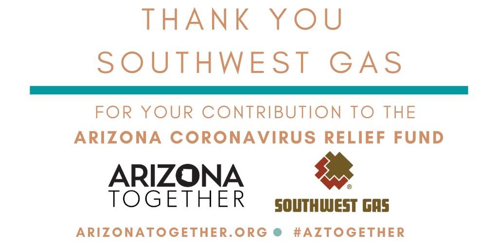 Southwest Gas Contributes $65,000 To The AZ Coronavirus Relief Fund