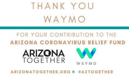 Waymo Contributes $100,000 To AZ Coronavirus Relief Fund
