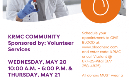 KRMC to host community blood drive at Beale Celebrations