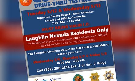 By-Appointment, Drive-Thru COVID-19 Testing to be Offered in Laughlin May 12-13