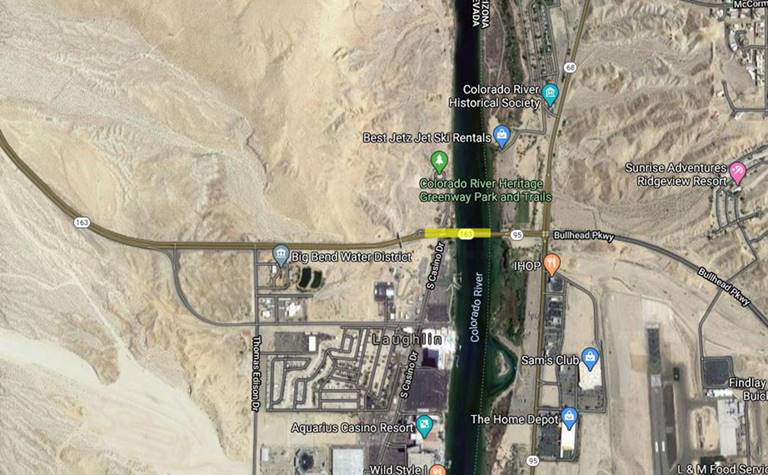 State Route 163 Lane Reductions Near AZ Border Overnight June 15 in Laughlin
