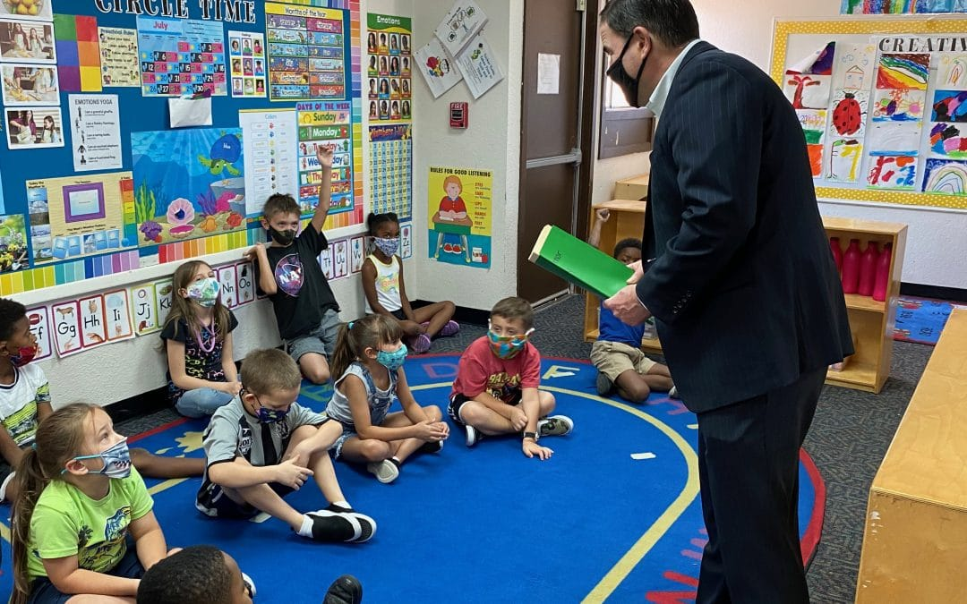 Governor Ducey Visits Arizona Enrichment Center To Thank Staff, Meet With Kids