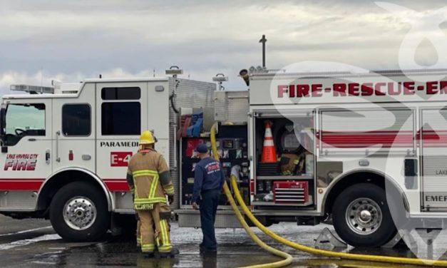 Desert Hills Mutual Aid for an RV Garage Fire
