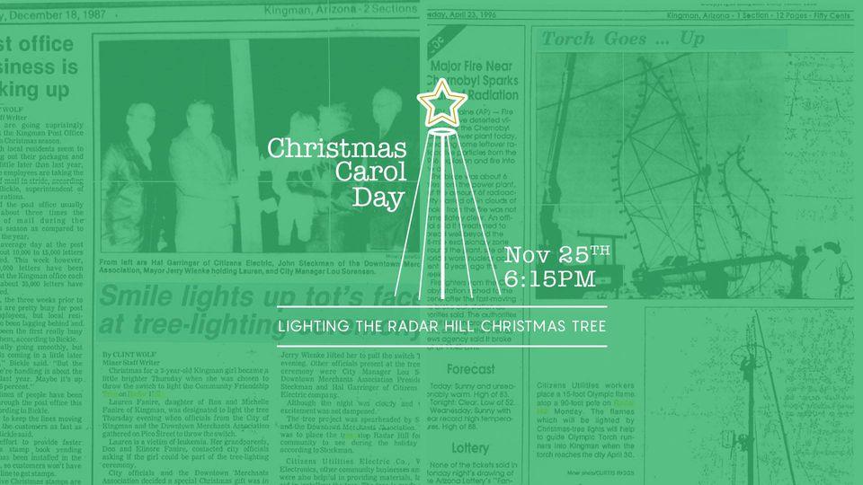 Christmas Carol Day – Lighting of Radar Hill Tree