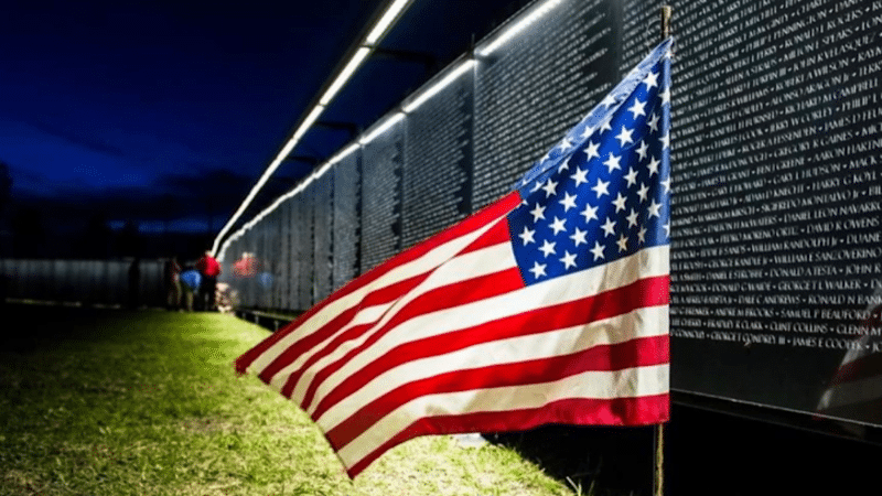 """BULLHEAD CITY SHRINE CLUB SIGNS ON AS LEAD SPONSOR OF """"THE WALL THAT HEALS"""" AT MOHAVE HIGH SCHOOL"""