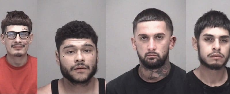 Four Arrested for Burglary and Vehicle Theft