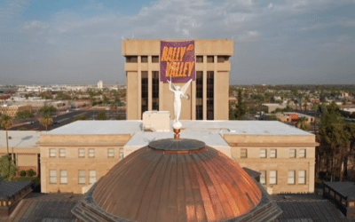 Banner Supporting Phoenix Suns At Capitol Gets Unveiled