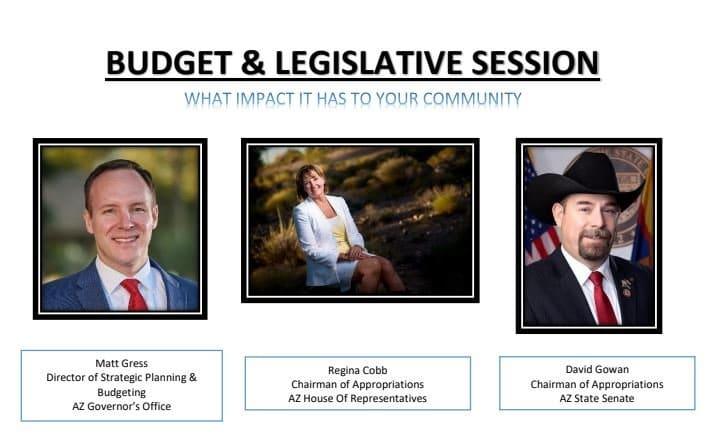 Kingman,AZ | Budget & Legislative Session with Regina Cobb, Matt Gress and David Gowan