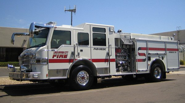 Lake Havasu City Fire Engine Rear Ended in Motor Vehicle Accident