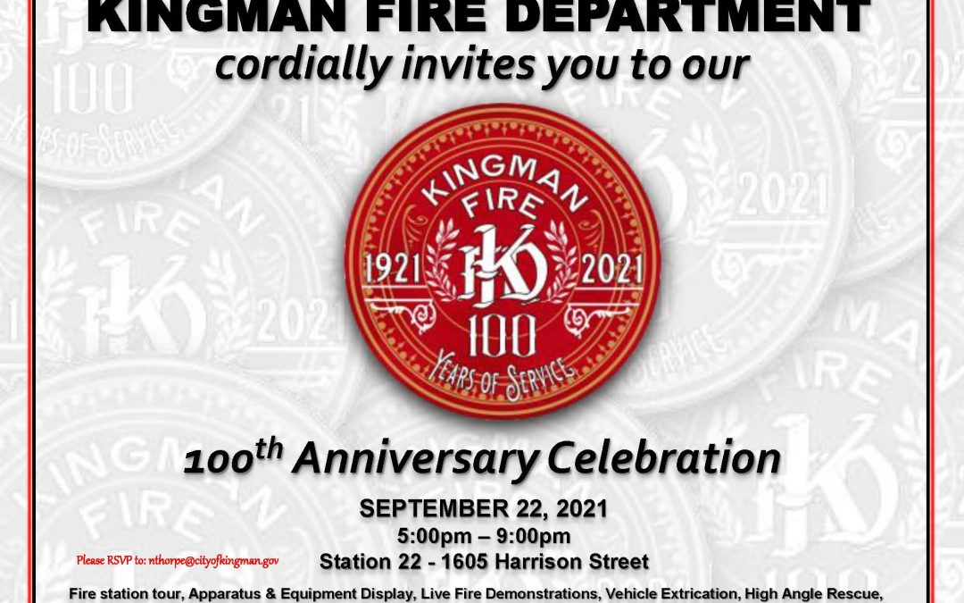Kingman's Fire Department to Celebrate 100 Years