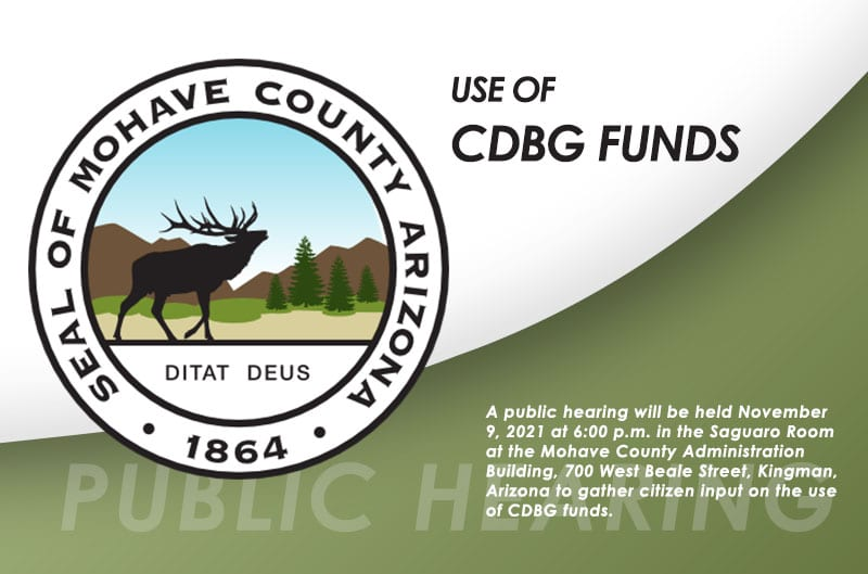 Public Hearing (P-2) Mohave County Public Hearing Regarding Use of CDBG Funds