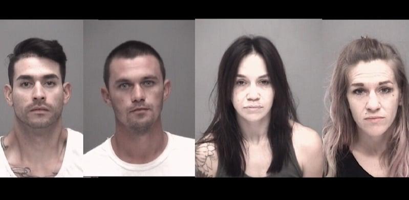 Four Arrested for Drug Possession